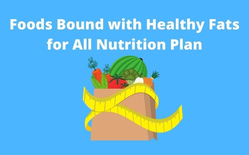 Foods Bound with Healthy Fats for All Nutrition Plan